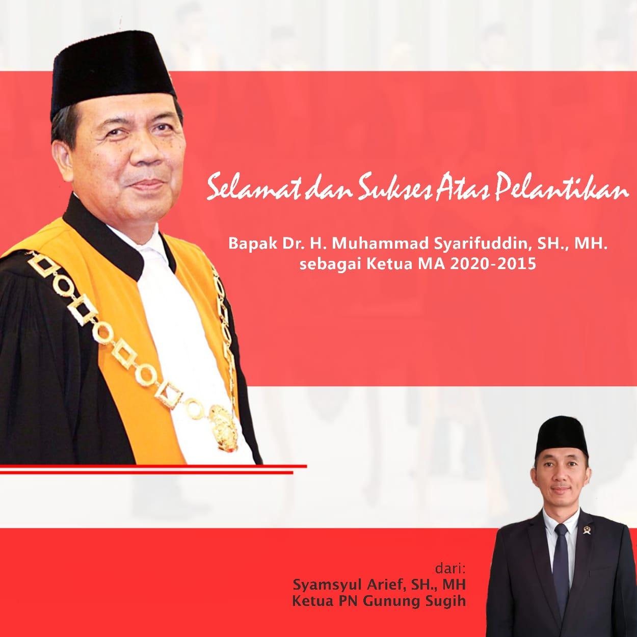 Ketua MA RI 2020-2025 Ucap Sumpah Jabatan Kepada Presiden